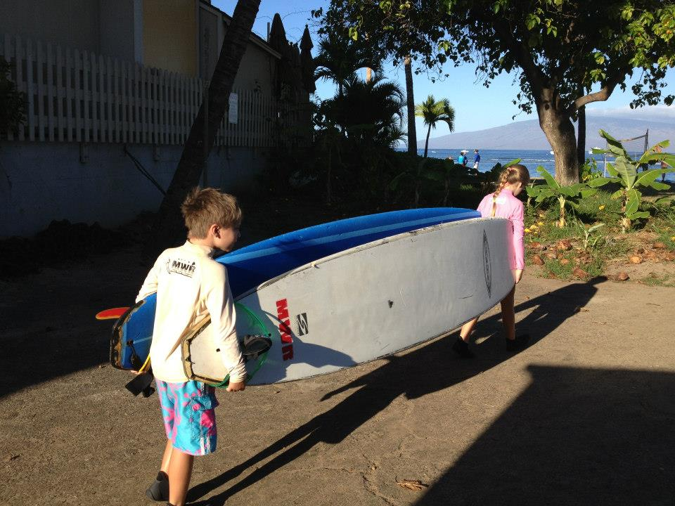 Cam and Tay carrying boards