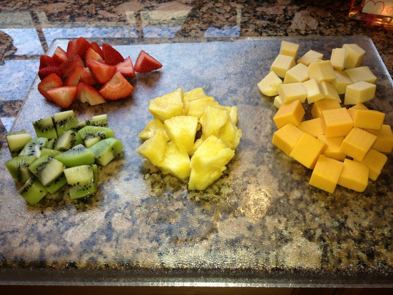 Chunks for fruit platter