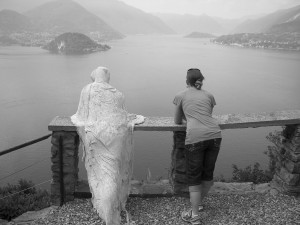 ghostly...at a castle in Lake Como, Italy